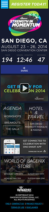 Celebration 2014 Mobile Mockup
