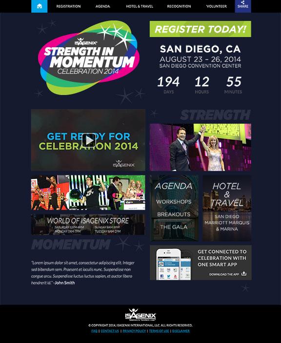 Celebration 2014 Web Mockup