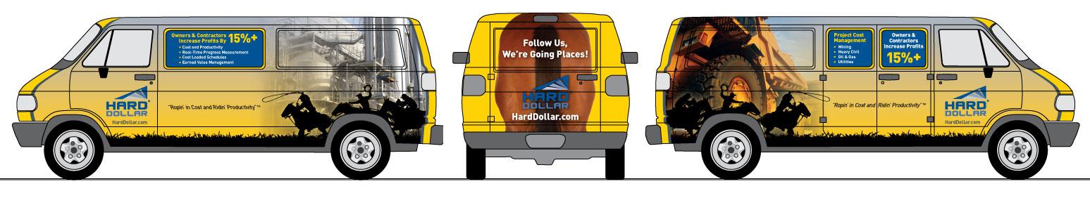 Hard Dollar Van Wrap Design