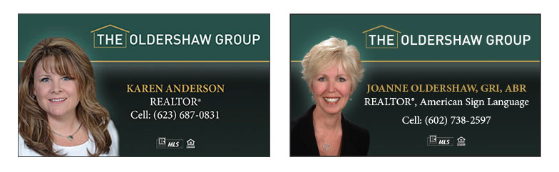 The Oldershaw Group Business Cards